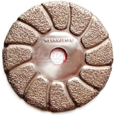 """WerkMaster™ Stone / Hardwood / Terrazzo Tooling / 002-0661-00 / 3"""" Vacuum Brazed 30G / 1 Pack"""