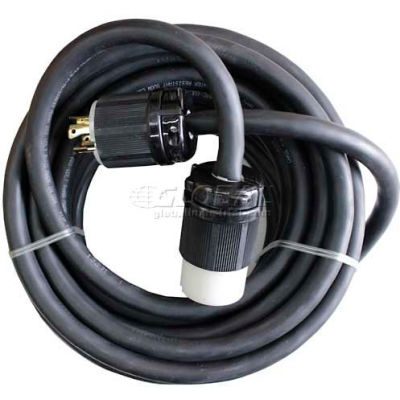 WerkMaster™ Ext Cord, 3 Phase, 10/4, 250V, 30A, Nonmarking Cable, 540-0034-00, 1 Pack
