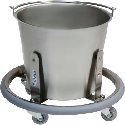 Blickman 7766SS 13-Quart Lenox Stainless Steel Kick Bucket with Frame