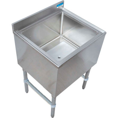 "BK Resources BKIB-CP8-3012-18S, Stainless Steel Ice Bin w/ 8-circuit Cold Plate 30""Wx18-1/4""D"