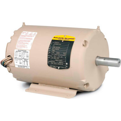 Baldor-Reliance Motor AFM3529, 1HP, 3450RPM, 3PH, 60HZ, 56Z, 3416M, TEAO, F1, N