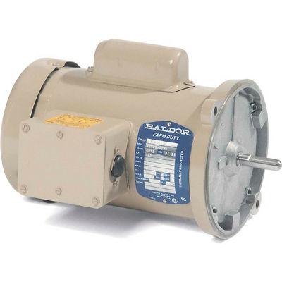 Baldor-Reliance Electric Motors ANFL3510M, 1HP, 1725RPM, 1PH, 60HZ, 56YZ, 3524L, TEFC, F1