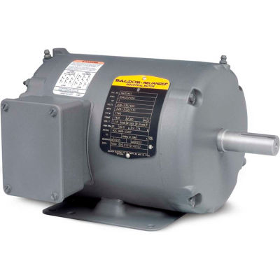 Baldor-Reliance Motor AOM3708T, 5HP, 1140RPM, 3PH, 60HZ, 215T, 3735M, TEAO, F1