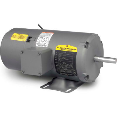 Baldor-Reliance Motor BM3538, .5HP, 1725RPM, 3PH, 60HZ, 56, 3420M, TENV, F1