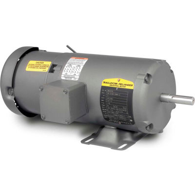 Baldor-Reliance Motor BM3543, .75HP, 1140RPM, 3PH, 60HZ, 56, 3428M, TEFC, F1