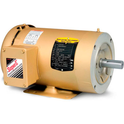 Baldor-Reliance Motor CEM3613T, 5HP, 3450RPM, 3PH, 60HZ, 184TC, 3630M, TEFC, F1