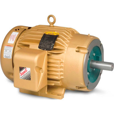 Baldor-Reliance General Purpose Motor, 208-230/460 V, 3 HP, 1165 RPM, 3 PH, 213TC, TEFC