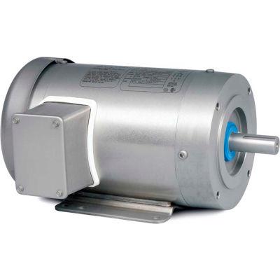 Baldor-Reliance Washdown Motor CESSWDM3550, 3 PH, 1.5 HP, 3500 RPM, 208-230/460 V, TENV, 56C FR