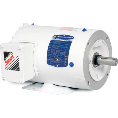 Baldor-Reliance Motor CEWDM3546T, 1HP, 1740RPM, 3PH, 60HZ, 143TC, 3526M, TENV, F1