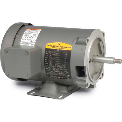Baldor-Reliance Motor CJM3107, .5HP, 3450RPM, 3PH, 60HZ, 56J, 3413M, OPEN, F1