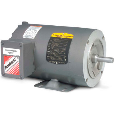 Baldor-Reliance Motor CNM3539, .5HP, 1150RPM, 3PH, 60HZ, 56C, 3524M, TENV, F1