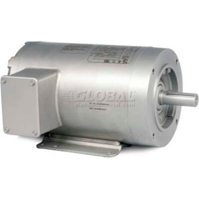 Baldor-Reliance Washdown Motor CSSEWDM3543, 3 PH, 0.75 HP, 1160 RPM, 208-230/460 V, TENV, 56C FR