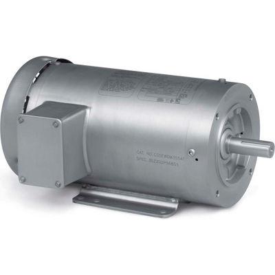 Baldor-Reliance Washdown Motor CSSEWDM3555, 3 PH, 2 HP, 3500 RPM, 208-230/460 V, TEFC, 56C FR