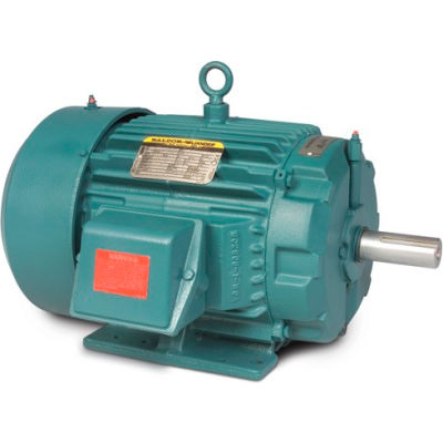 Baldor-Reliance Motor ECP3660T, 3HP, 3520RPM, 3PH, 60HZ, 182T, TEFC, FOOT