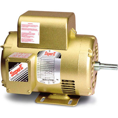 Baldor-Reliance Motor EL1405T, 2HP, 1740RPM, 1PH, 60HZ, 182T, 3623LC, OPSB, F1