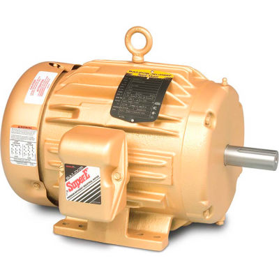 Baldor-Reliance 3-Phase Motor, EM4107T-5, 25 HP, 3520 RPM, 284TS Frame, Foot Mount, TEFC, 575 Volts