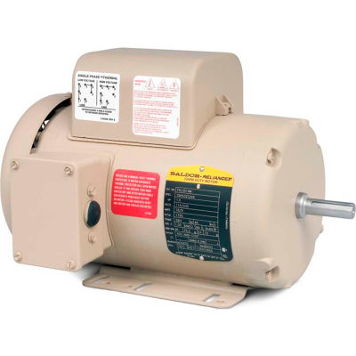 Baldor-Reliance Motor FDL3611M, 2HP, 1725RPM, 1PH, 60HZ, 184, 3634L, TEFC, F1, N