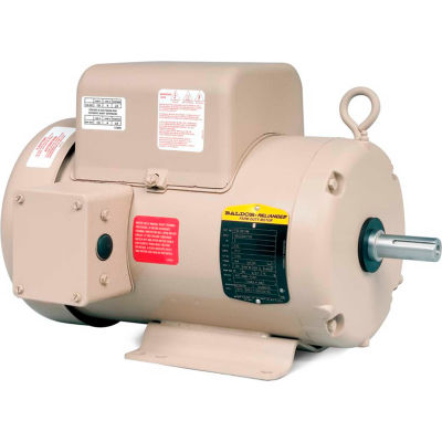 Baldor-Reliance Motor FDL3619TM, 3HP, 1725RPM, 1PH, 60HZ, 184T, 3634LC, TEFC, F1