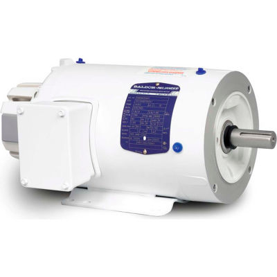 Baldor-Reliance Washdown Motor IDWNM3707T, 3 Phase, 5 HP, 1760 RPM, 230/460 Volts, TENV, 213TC FR