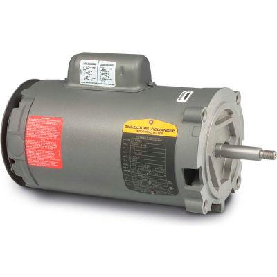 Baldor-Reliance Motor JL1317A, 2HP, 3450RPM, 1PH, 60HZ, 56J, 3528L, OPEN, F1, N