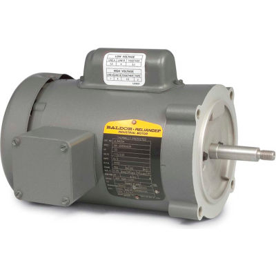 Baldor-Reliance Motor JL3503A, .5HP, 3450RPM, 1PH, 60HZ, 56J, 3420L, TEFC, F1