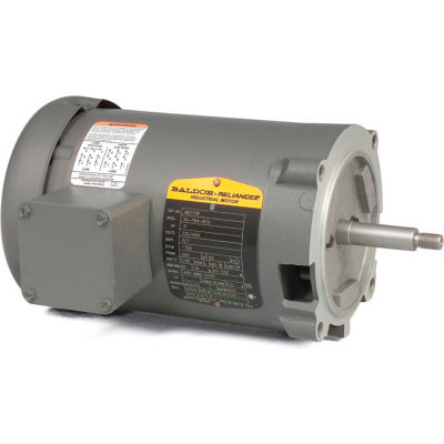 Baldor-Reliance Motor JM3155, 2HP, 3450RPM, 3PH, 60HZ, 56J, 3430M, OPEN, F1
