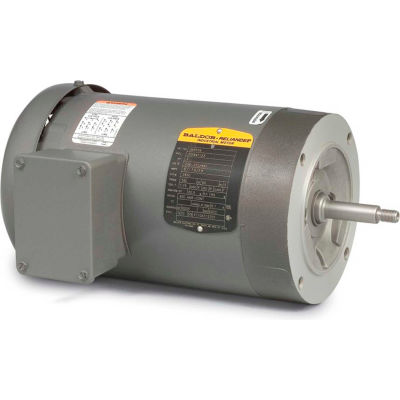 Baldor-Reliance Motor JM3461, .5HP, 1725RPM, 3PH, 60HZ, 56J, 3416M, TEFC, F1