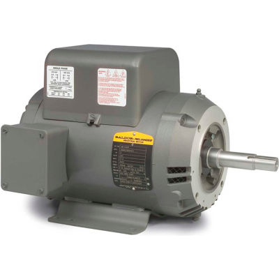 Baldor-Reliance Motor JML1509T, 7.5HP, 3450RPM, 1PH, 60HZ, 213JM, 3729L, OPEN