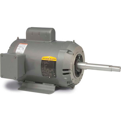 Baldor-Reliance Motor JPL1406T, 3HP, 3450RPM, 1PH, 60HZ, 182JP, 3628L, OPEN, F1