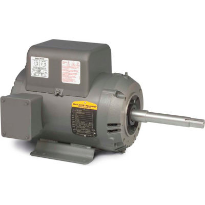 Baldor-Reliance Motor JPL1508T, 5HP, 1725RPM, 1PH, 60HZ, 213JP, 3727L, OPSB, F1