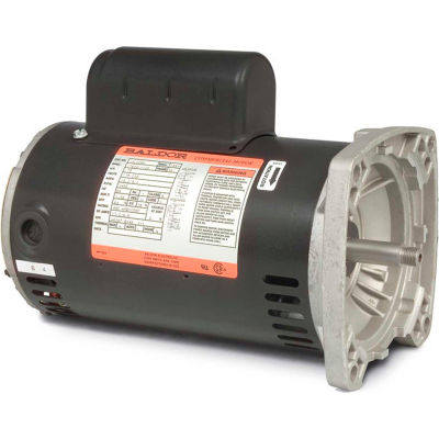 Baldor-Reliance Motor JSL525A, 1HP, 3450RPM, 1PH, 60HZ, 56Y, 1724L, OPEN, F1, N