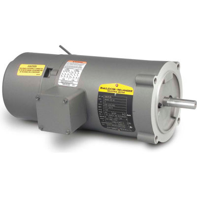 Baldor-Reliance Motor KBM3454, .25HP, 1725RPM, 3PH, 60HZ, 56C, 3413M, TENV, F1