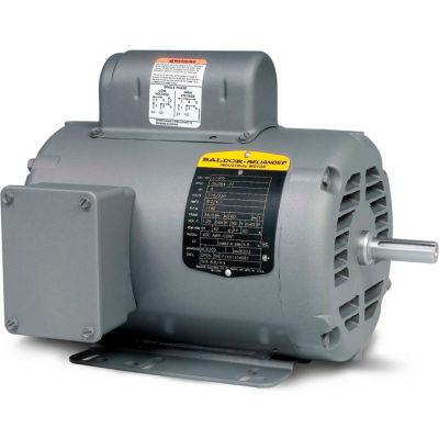 Baldor-Reliance Motor L1405T, 2HP, 1725RPM, 1PH, 60HZ, 182T, 3628L, OPEN, F1