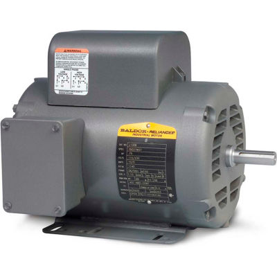 Baldor-Reliance Motor L1408T-50, 3HP, 1425RPM, 1PH, 50HZ, 184T, 3646LC, OPEN, F1