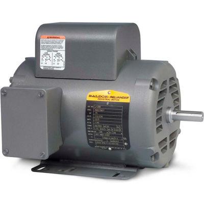 Baldor-Reliance Motor L1410T, 5HP, 1725RPM, 1PH, 60HZ, 184T, 3640LC, OPEN, F1