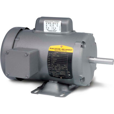 Baldor-Reliance Motor L3406M, .33HP, 1725RPM, 1PH, 60HZ, 48, 3414L, TEFC, F1