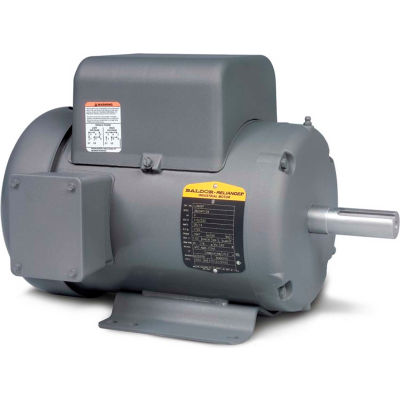 Baldor-Reliance Motor L3508, .75HP, 1140RPM, 1PH, 60HZ, 56/56H, 3528LC, TEF