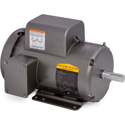 Baldor-Reliance Motor L3515T, 2HP, 3450RPM, 1PH, 60HZ, 143T, 3535L, TEFC, F1