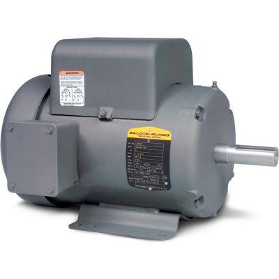Baldor-Reliance Motor L3608T, 5HP, 3450RPM, 1PH, 60HZ, 184T, 3640LC, TEFC, F1