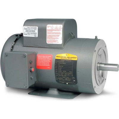 Baldor-Reliance Motor PCL3519M, 3HP, 3450RPM, 1PH, 60HZ, 56C, 3532LC, TEFC, F1
