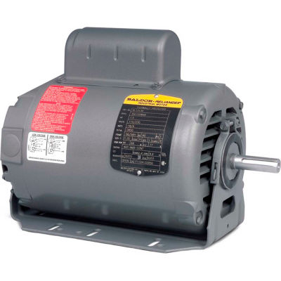 Baldor-Reliance Motor RL1310A, 1HP, 1725RPM, 1PH, 60HZ, 56/56H, 3520L, OPEN, F