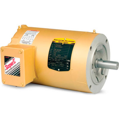 Baldor-Reliance Motor VENM3538, .5HP, 1750RPM, 3PH, 60HZ, 56C, 3516M, TENV, F1