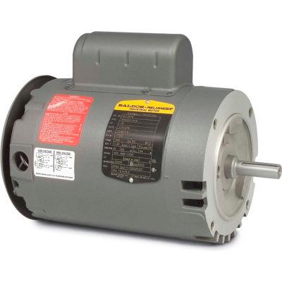 Baldor-Reliance Motor VL1317A, 2HP, 3450RPM, 1PH, 60HZ, 56C, 3528L, OPEN, F1, N