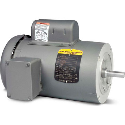 Baldor-Reliance 50 Hertz Motor, VL3504-50, 1 PH, 0.5 HP, 1425 IP44 RPM, 110/220 Volts,TEFC,56C Frame