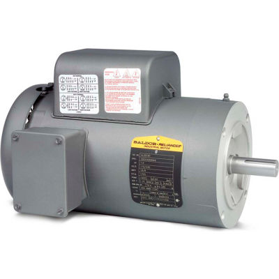 Baldor-Reliance Motor VL3609T, 3HP, 1725RPM, 1PH, 60HZ, 184TC, 3634LC, TEFC, F