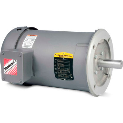 Baldor-Reliance 50 Hertz Motor, VM3541-57, 3 PH, 0.75 IP44 HP, 2850 RPM, 230/400 V,TEFC,56C Frame