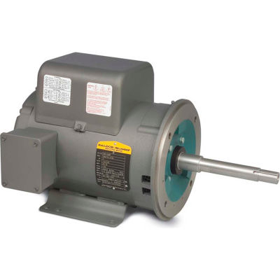 Baldor-Reliance Motor WCL1408T, 3HP, 1725RPM, 1PH, 60HZ, 184TCZ, 3634LC, OPEN