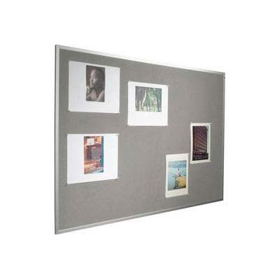 "Balt® Fab-Tak Tackboard with Aluminum Trim 48""W x 48""H Granite"