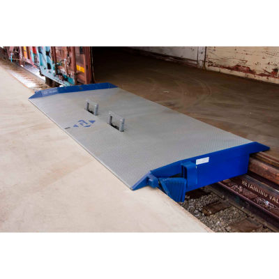 "Bluff® Steel Rail Dock Board 40R10860L 116"" x 60"" 40,000 Lb. Capacity"