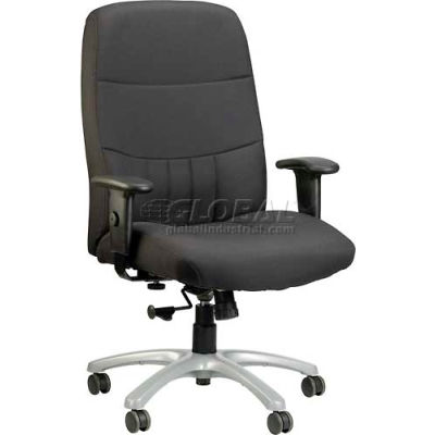 Eurotech Excelsior Executive High Back Chair - Charcoal Fabric - Non-Adjustable Arms